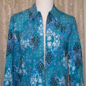 TURQUOISE LILAC & ICE JACKET Unlined
